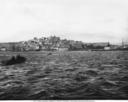 Veduta panoramica dal porto della citt� di Cagliari in Sardegna.