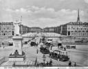 Piazza Vittorio Emanuele (oggi piazza Vittorio Veneto) vista dalla Chiesa della Gran Madre di Dio a Torino