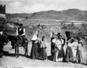 Gruppo di popolani nelle campagne di Randazzo