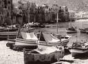 Barche sulla riva a Cefalù
