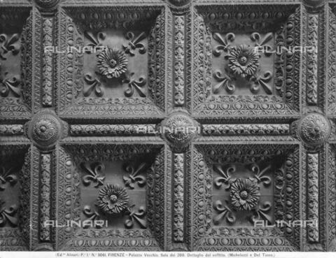 Soffitto a cassettoni, Sala dei Dugento, Palazzo Vecchio, Firenze