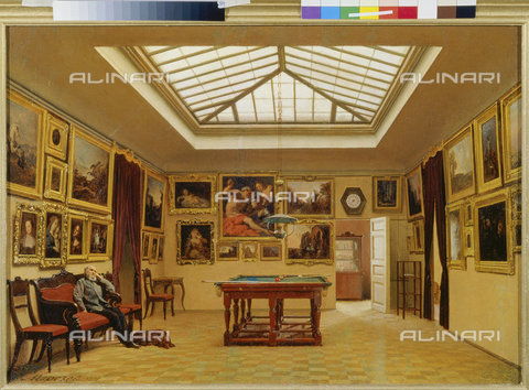 Titolo: Una sala da biliardo. 1876., Morosoff, Alexander Iwanow, San ...