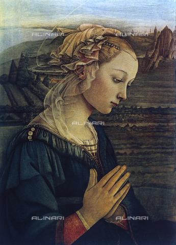 Madonna in preghiera. Dipinto di Filippo Lippi conservato alla ...
