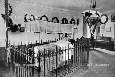 Scorcio della camera da letto di giuseppe garibaldi nella for 30x40 planimetrie della casa